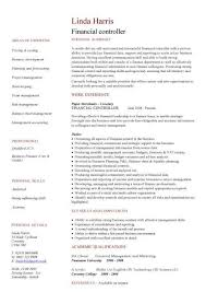cv financial controller financial controller cv sample job description resume cv writing