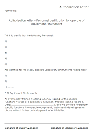Authorization Letter Sample Format
