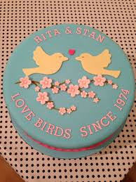 40th Wedding Anniversary Cake Love Birds Cakes Ruby Wedding