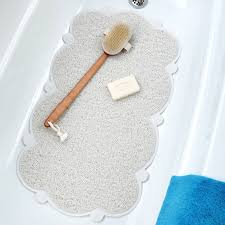 bathroom accessories non slip bathtub mats image cloud bathtub mat with microban cushioned non