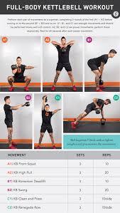 Printable Kettlebell Workout Chart Full Body Kettlebell Workout For Any Level Kettlebell Swing