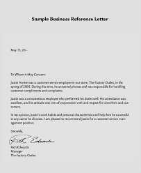 8 Reference Letter Samples Examples Templates