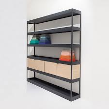 vertical open shelf with trays new order