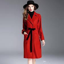 2019 2017 tops korean style women s winter women s trench coats women s bow outerwear elegant blends coats high quality long wool coat from lisa 520