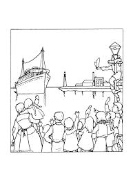 Kleurplaat Sinterklaas Komt Aan Met De Stoomboot Uit Spanje 9260