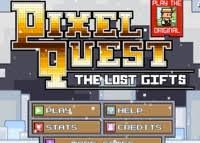 voici le second épisode de pixel quest cette fois ci rex part à la demande du père noël à la recherche des cadeaux perdus il y a 64 niveaux dans ce jeu