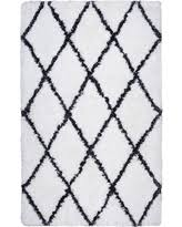 Rizzy Home Connex Indoor Area Rug White / Black