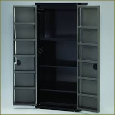 Lockable Dvd Storage Cabinet Lockable Storage Cabinets Wood Home Design Ideas