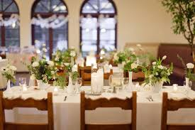 milk glass vases greenery centerpieces