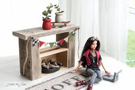 how to make doll furniture. Reclaimed Wood Fireplace With Burlap Pennant / How To Make Upcycled  Dollhouse Furniture FunkyJunkInteriors. How Doll