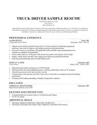 Gallery Of Cdl Truck Driver Resume Truck Driver Resume Template