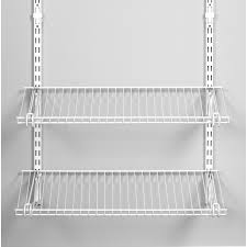 rubbermaid homefree series 4 ft adjule mount wire shelving kits