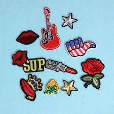 10pcs mixed applique embroidery patch sticker iron on sew clothpatch diy intl