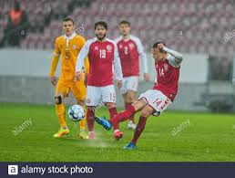 28. März 2021: Mikkel Damsgaard von Dänemark während Dänemark und Moldawien  auf MCH Arena, Herning, Dänemark. (Foto von Kim Price/CSM/Sipa USA  Stockfotografie - Alamy