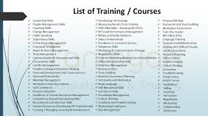 list of training your future our responsibility picture