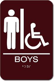 school bathrooms signs. Boy\u0027s Wheelchair Accessible School Restroom Sign - 6\ Bathrooms Signs E