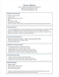 Sample Resume Format For Fresh Graduates Two Page Model Resumes