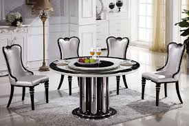 innovative decoration round dining table with lazy susan lovely idea