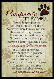 Loss Of A Pet Quotes Cool Dog Grief Poems