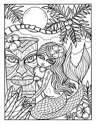 Small Picture Instant Download 5 pictures Tiki bar mermaids Coloring pages