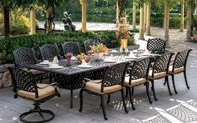 Image Hanamint Cast Aluminum Dining Set Garden2homecom Patio Furniture Dining Set Cast Aluminum 120