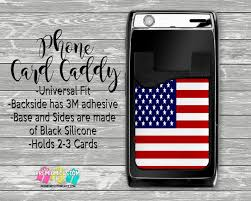 patriotic phone card caddy personalized card holder phone accessories gifts for her phone wallet custom card holder card wallet