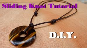 how to tie a knot for necklace 5 surprising make sliding leather cord with donut tiger