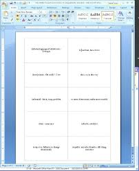 Index Card Word Template Microsoft Word Index Card Template Globalforex Info