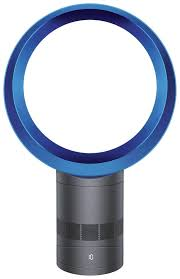 dyson am06 blue and iron cool desk fan 12 inch from the argos on