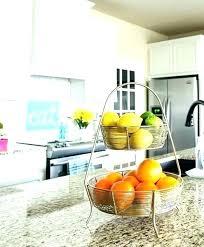 tiered fruit stand kitchen basket wire