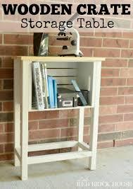 wood crate storage table fabartdiy wood wine crate ideas and projects wood crate storage table