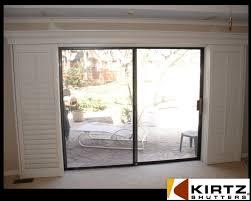 plantation shutters for sliding glass doors a not so standard installation