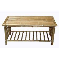Bamboo Coffee Table Patio Handmade Furniture Wood Natural Beach House  Tropical
