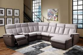 Sectional Sofas With Recliners And Cup Holders Storage  Set Brown Leather Decor Dark Recliner With Cup Holder And Storage18