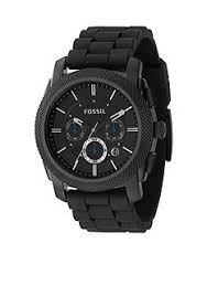 men s watches belk fossil® gents chrono black ip