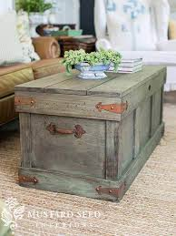 One idea is to make the trunk becomes retractable. 25 Best Diy Farmhouse Coffee Table Ideas And Designs For 2021