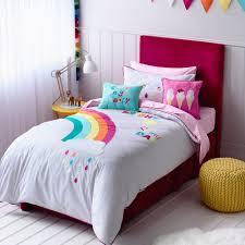 Kids Bedroom Girls Adairs Kids Girls Rainbow Sunshine Bedroom Quilt Covers