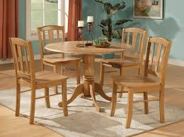 Round Kitchen Tables For 4 Incredible Round Wood Kitchen Table Throughout Stylish Round