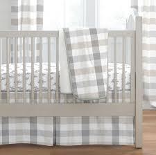 home crib bedding gray and taupe buffalo check share save 1