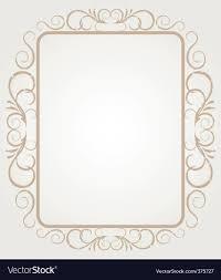 vintage frame border design vector image