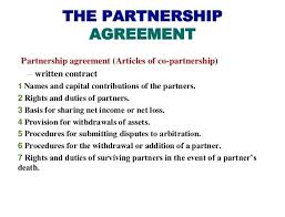 Basic Partnership Agreement Template Free Business Printable Simple ...