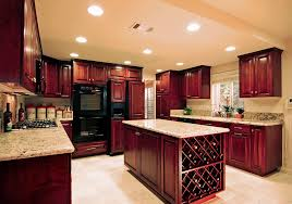 Kitchen Cherry Cabinets Wood Kitchen Cabinets Cabinet Colors With Images Of In Cherry
