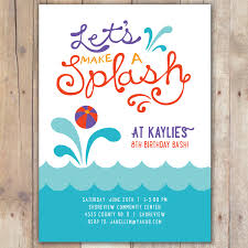 pool party invitations com pool party invitations by giving art of painting on your invitatios card to have interesting invitation templates printable 17
