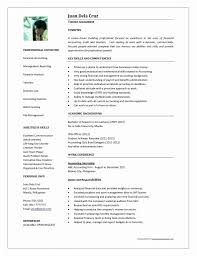 Accounting Resume Template Singapore Image Examples By Real People