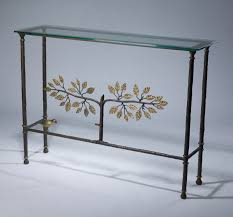 iron console table. Wrought Iron \u0027tree Of Life\u0027 Console Table In Brown Bronze, Distressed Gold Leaf L