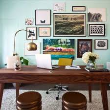 home office items. Home Office - 1960s Freestanding Desk Dark Wood Floor Idea In Los Angeles With Items M