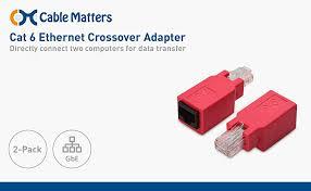 amazon com cable matters (2 pack) cat 6 ethernet crossover Cat6 Crossover Cable Diagram 2 pack diy or it pro tool the cable matters cat 6 ethernet crossover cat6 cross cable diagram