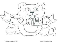 Gymnast Coloring Pages I Love Gymnastics Coloring Pages Colouring In