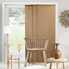vertical blinds for sliding glass doors. Fine Glass CHICOLOGY Adjustable Sliding Panels Cut To Length Vertical Blinds Birch  Truffle Natural Woven  Up 80 Intended Blinds For Glass Doors