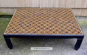 stylish tile coffee table with regency asian modern moroccan mosaic tile coffee table post 1950